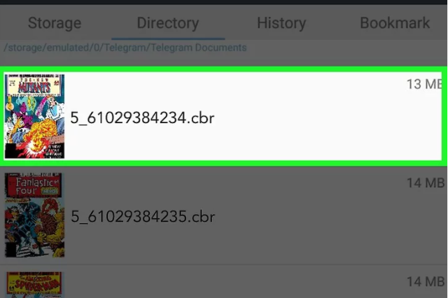 How to open CBR file on Android