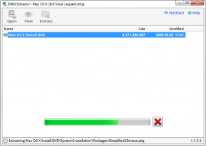 How to open DMG file with DMG extractor